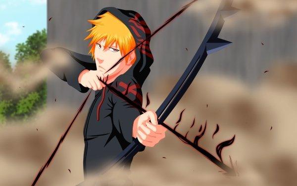 Anime Bleach Ichigo Kurosaki Orange Hair Bankai Brown Eyes HD Wallpaper | Background Image