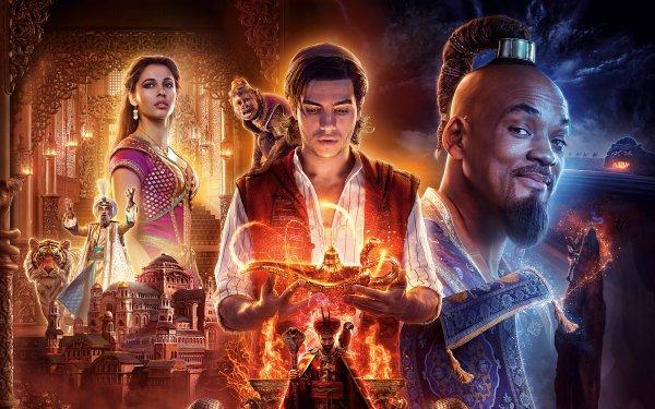 Movie Aladdin (2019) Will Smith Mena Massoud Naomi Scott HD Wallpaper   Background Image