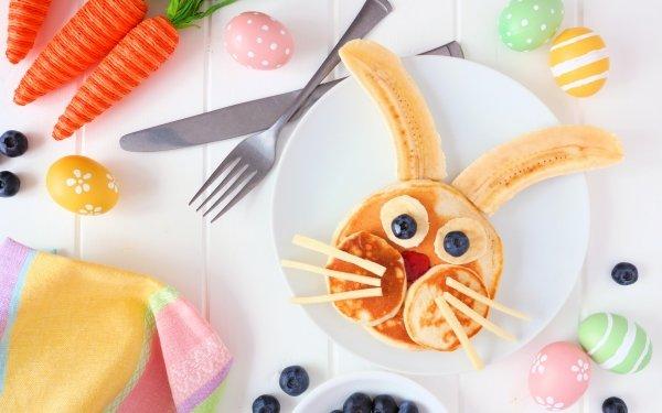 Alimento Desayuno Bodegón Bunny Panqueque Fondo de pantalla HD | Fondo de Escritorio