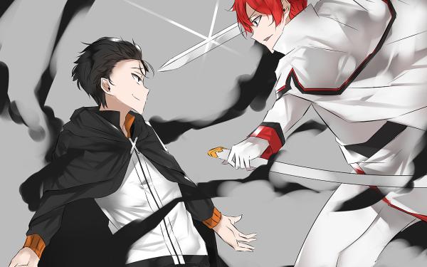 Anime Re:ZERO -Starting Life in Another World- Subaru Natsuki Reinhard van Astrea HD Wallpaper   Background Image