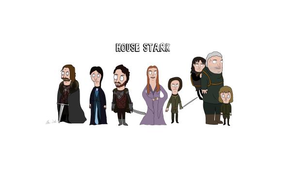 TV Show Game Of Thrones Eddard Stark Catelyn Stark Robb Stark Sansa Stark Arya Stark Bran Stark Hodor HD Wallpaper | Background Image