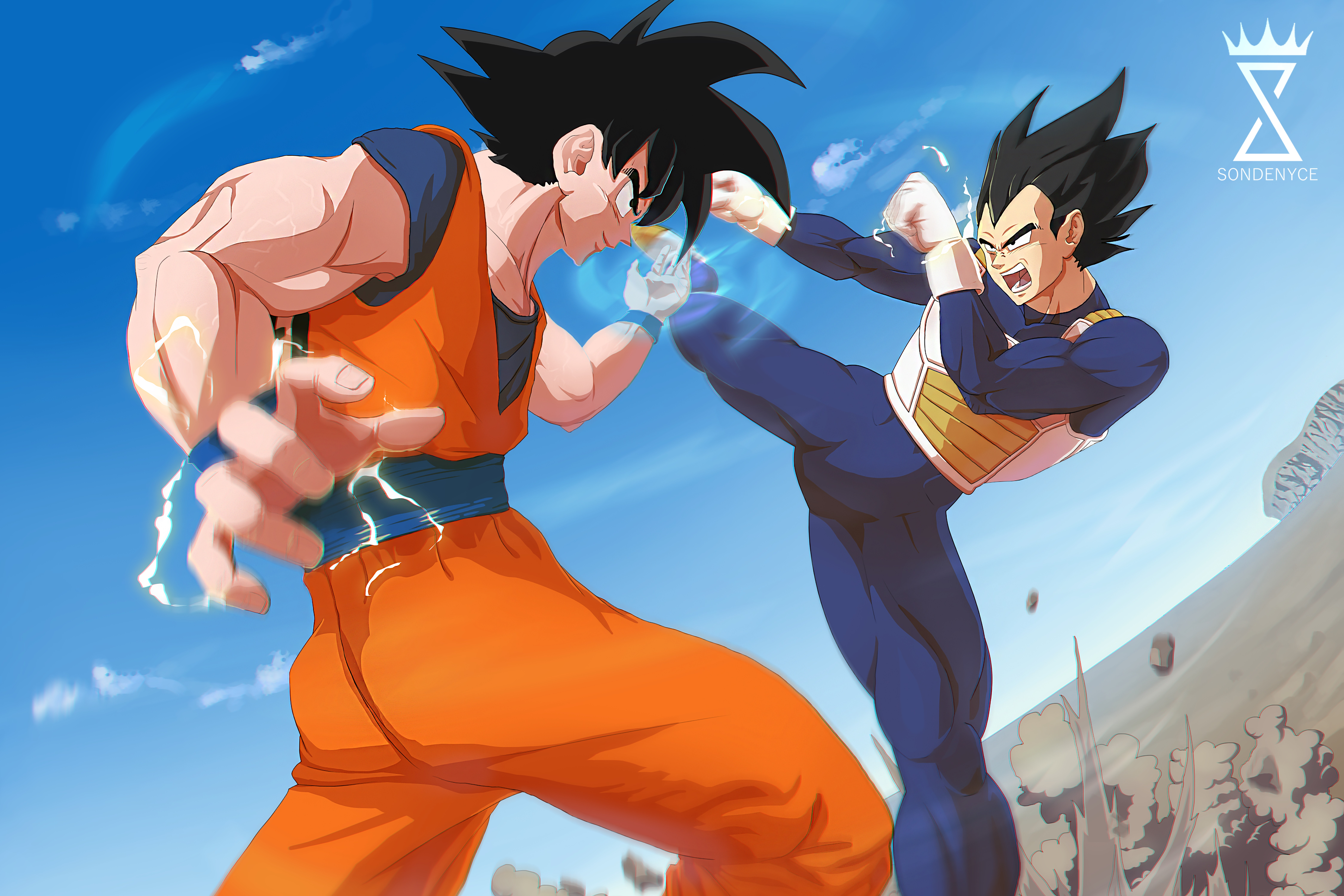 Goku Vs Vegeta 8k Ultra Hd Wallpaper Background Image 9000x6000 Id 1012361 Wallpaper Abyss