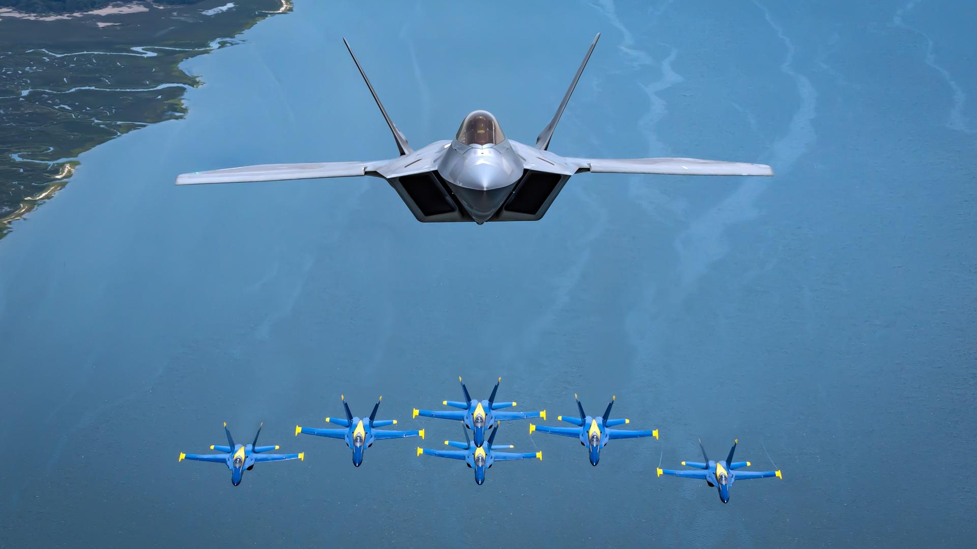 Lockheed Martin F 22 Raptor Hd Wallpaper Background Image