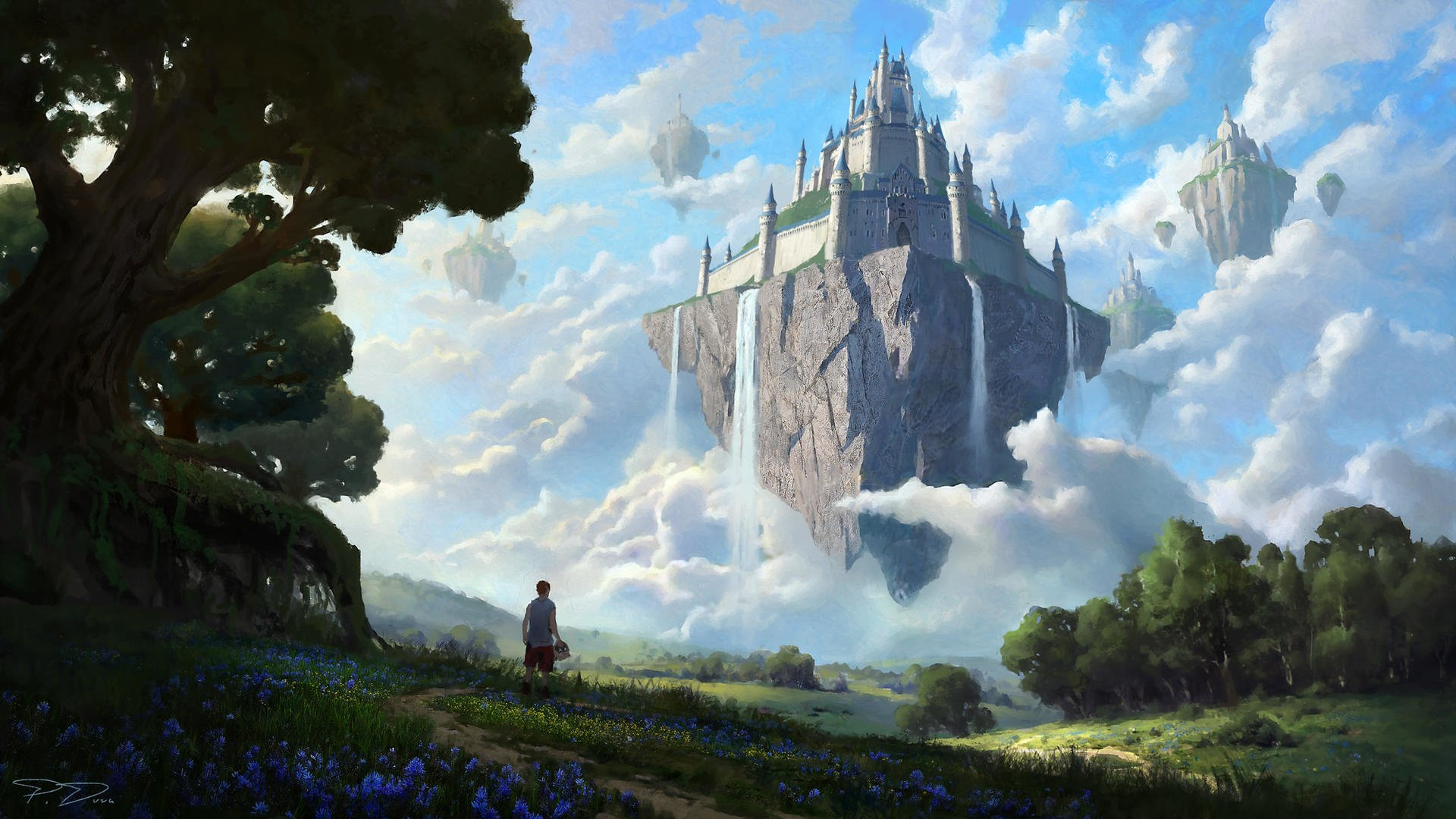 Castle In The Sky Hd Wallpaper Background Image 1920x1080 Id