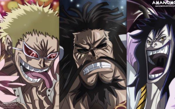 Anime One Piece Caesar Clown Donquixote Doflamingo Kaido HD Wallpaper | Background Image