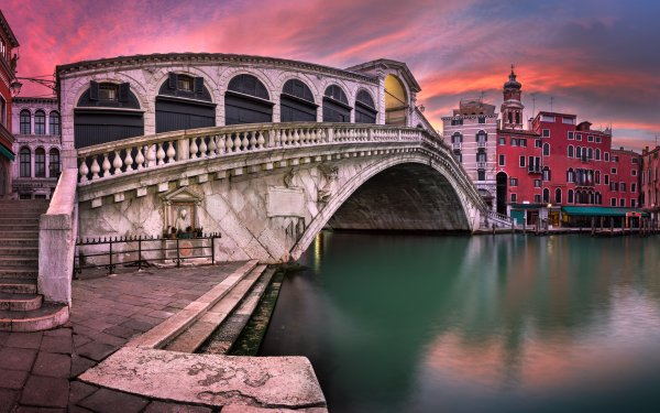 Man Made Bridge Bridges Rialto Bridge Venice Italy HD Wallpaper | Background Image