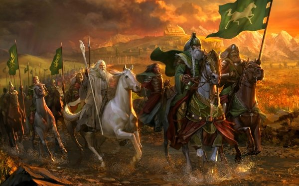 Fantasy Lord of the Rings The Lord of the Rings Horse Gandalf Warrior HD Wallpaper | Background Image