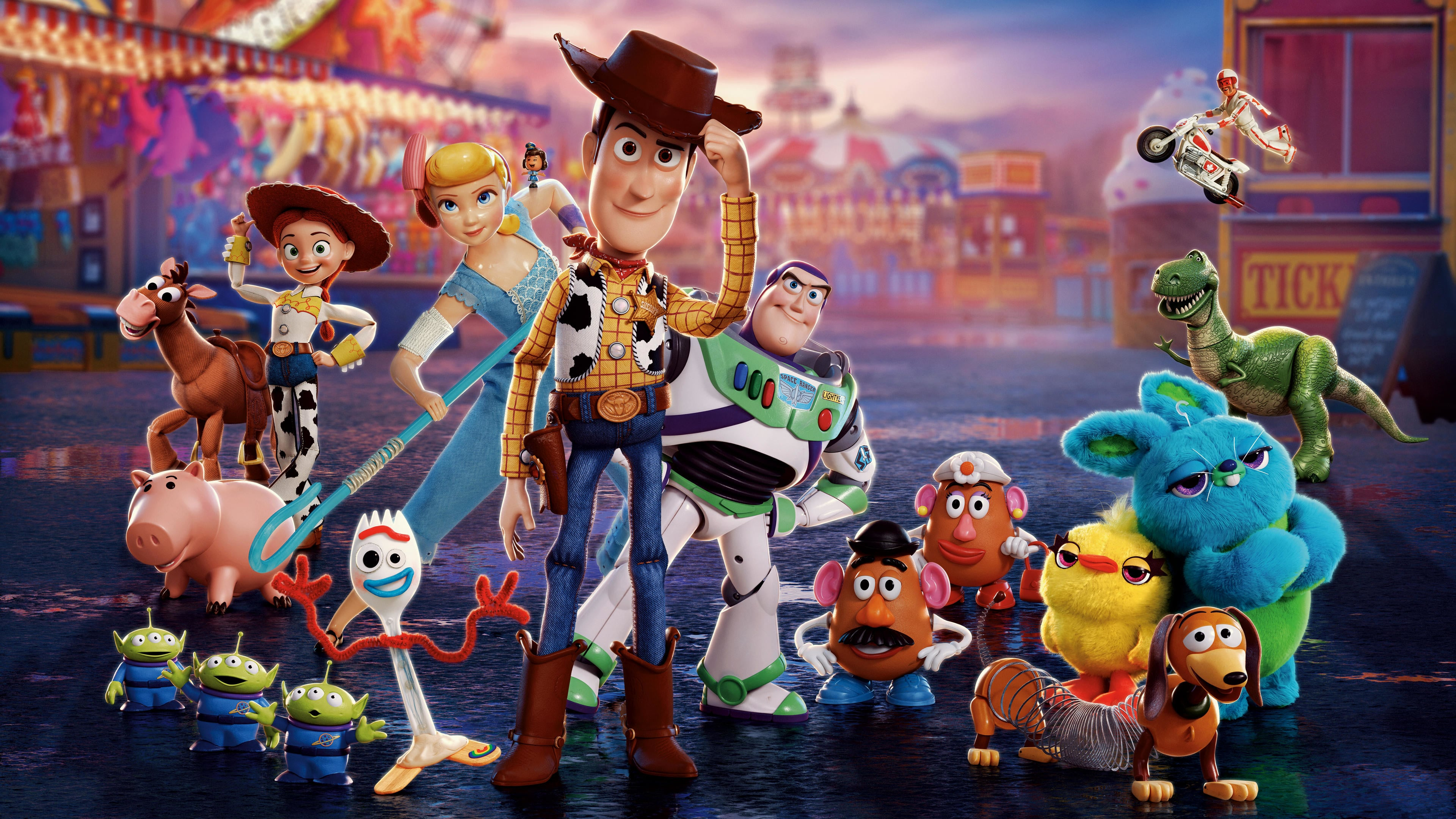 Toy Story 4 4k Ultra Hd Wallpaper Hintergrund 3840x2160