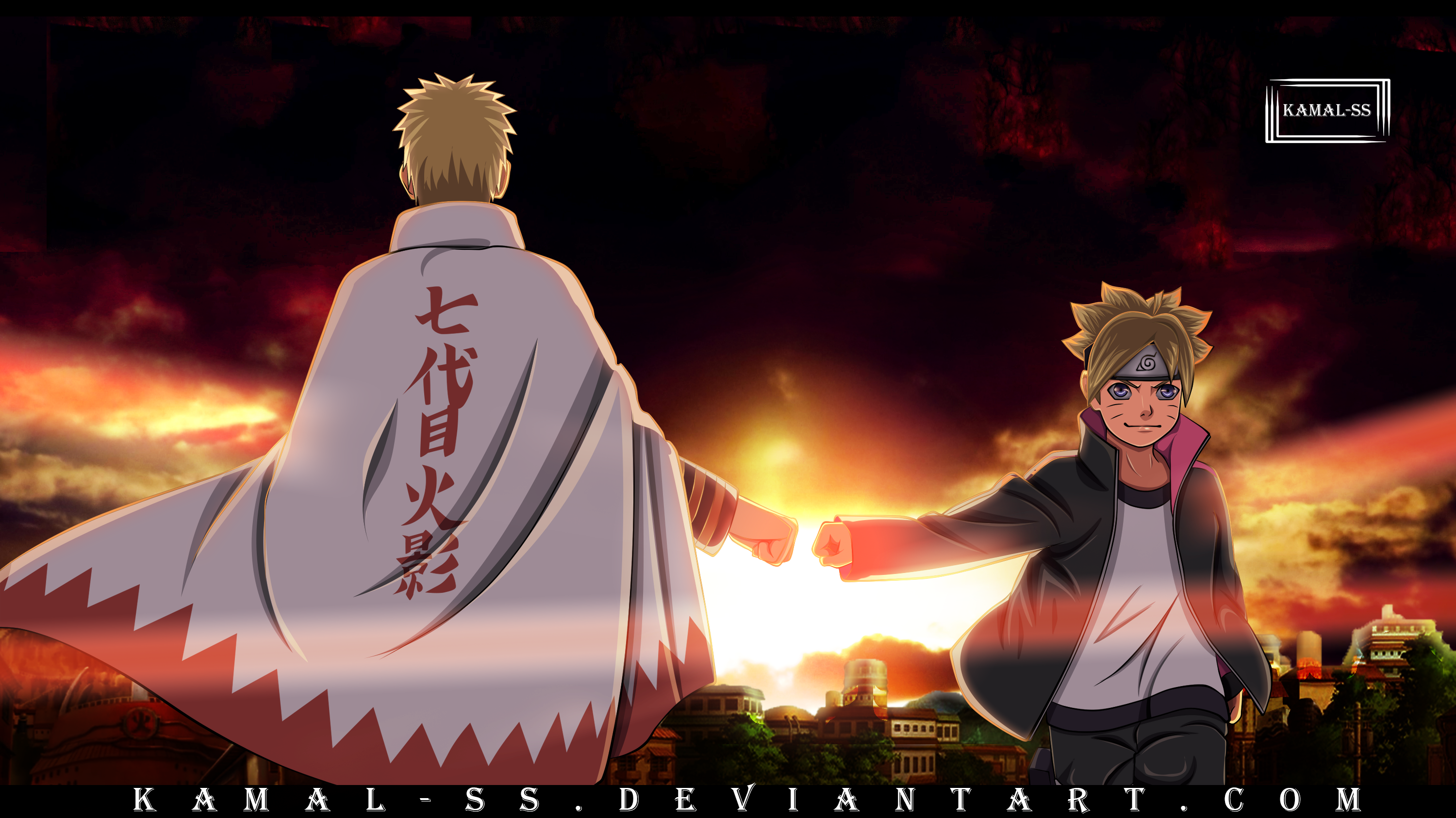Boruto And Naruto HD Wallpaper