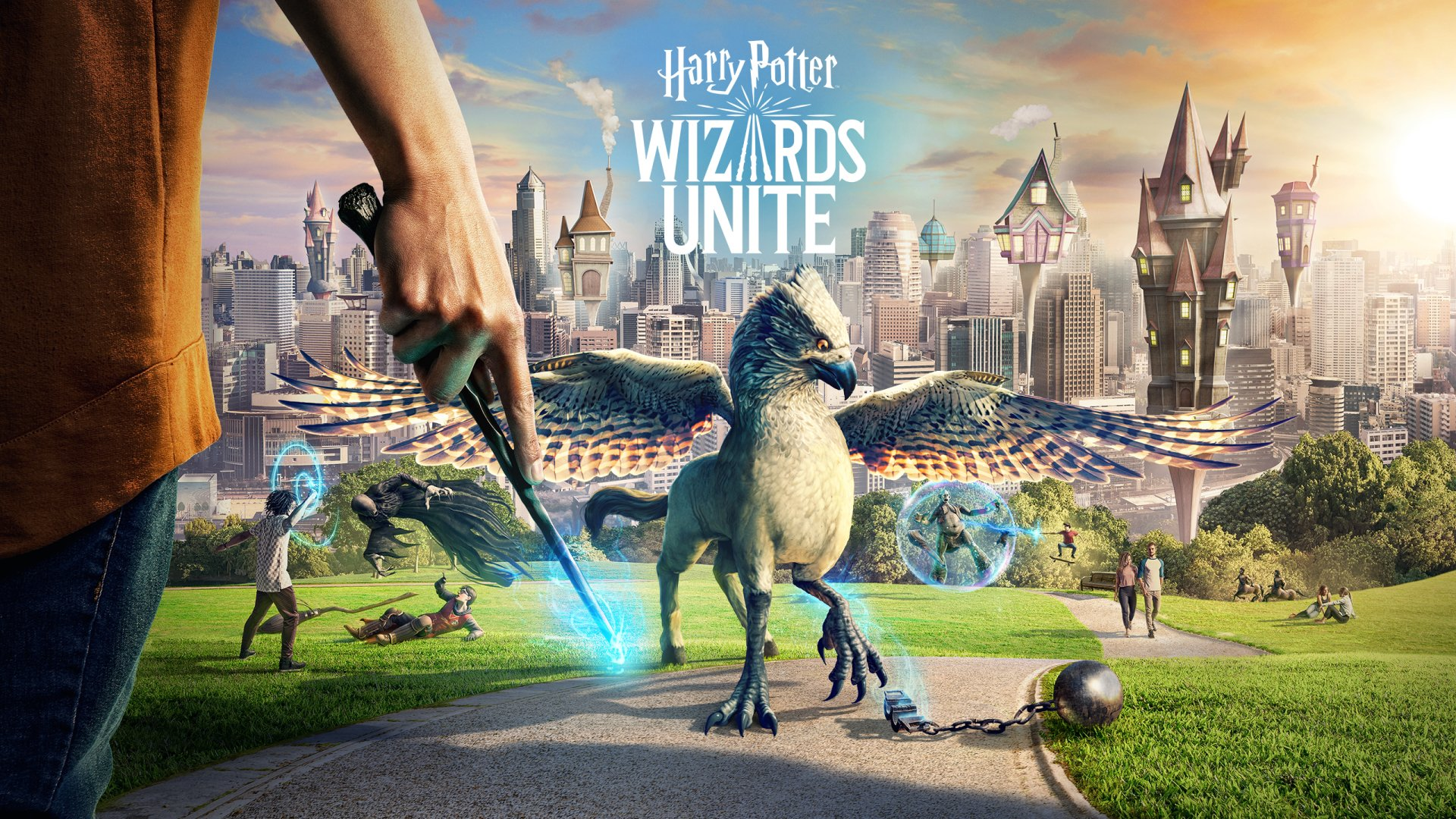 Image result for wizards unite wallpaper