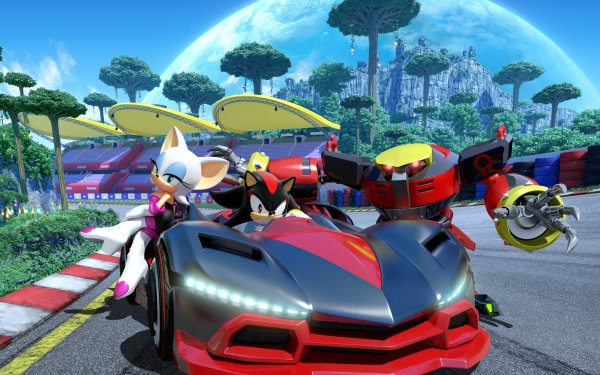 Video Game Team Sonic Racing Rouge the Bat Shadow the Hedgehog E-123 Omega HD Wallpaper | Background Image