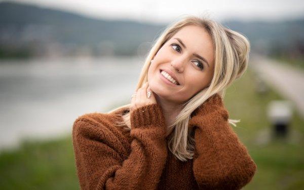 Women Model Models Depth Of Field Smile Blonde HD Wallpaper   Background Image