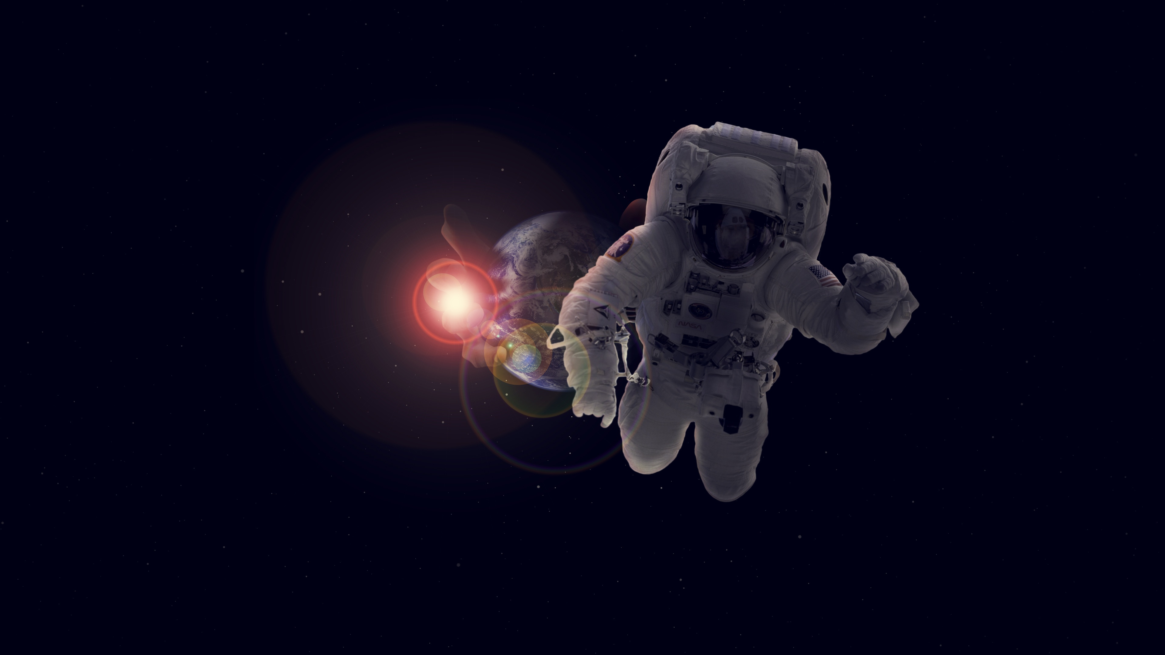 Astronaut In Space 4k Ultra Hd Wallpaper Background Image 3840x2160 Id 1038315 Wallpaper Abyss