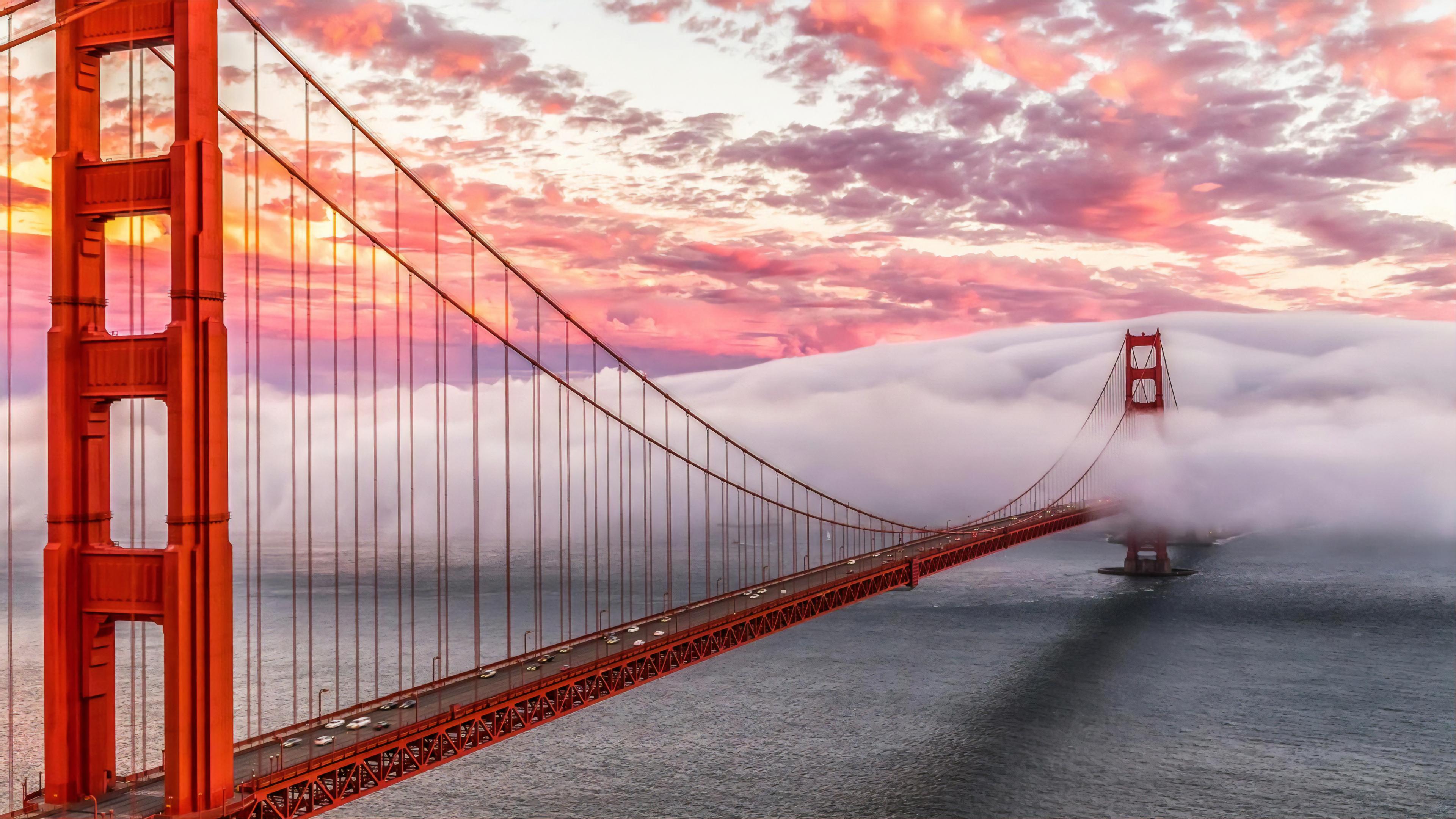 Golden Gate San Francisco 4k Ultra Fondo De Pantalla Hd