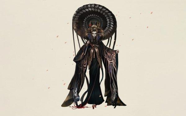 Fantasy Geisha Asian Umbrella HD Wallpaper | Background Image