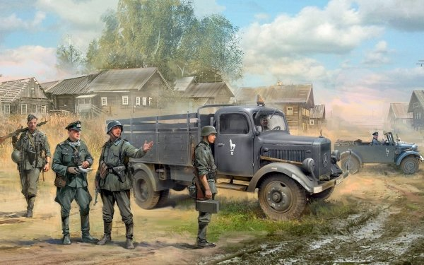 Military Soldier Wehrmacht Vehicle HD Wallpaper   Background Image
