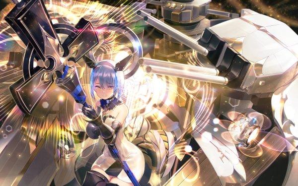 Anime Azur Lane Gascogne Blue Hair Short Hair HD Wallpaper | Background Image