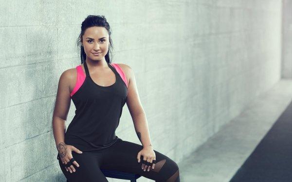 Music Demi Lovato Singers United States Singer American Tattoo Black Hair Fitness HD Wallpaper   Background Image