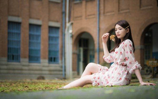 Women Asian Dress Woman Model Brunette HD Wallpaper | Background Image