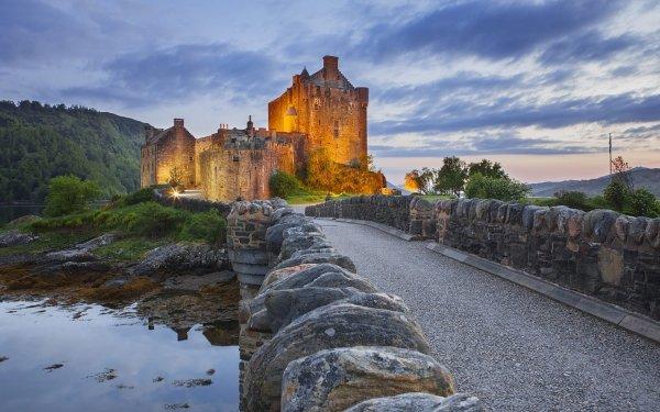 Man Made Eilean Donan Castle Castles United Kingdom Scotland Castle HD Wallpaper | Background Image