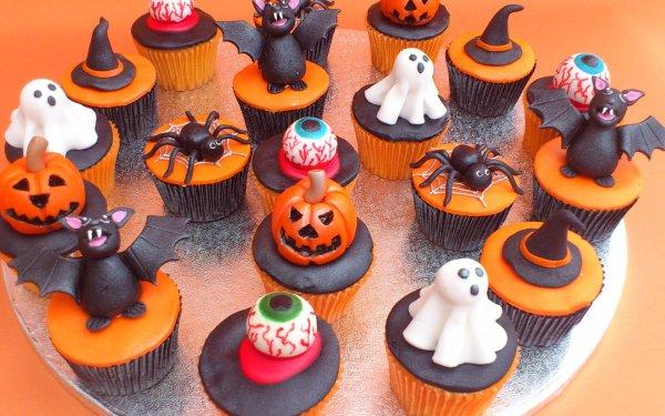 Holiday Halloween Cupcake HD Wallpaper | Background Image
