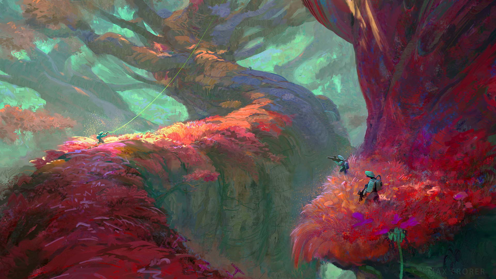 Red Forest HD Wallpaper   Background Image   1920x1080 ...