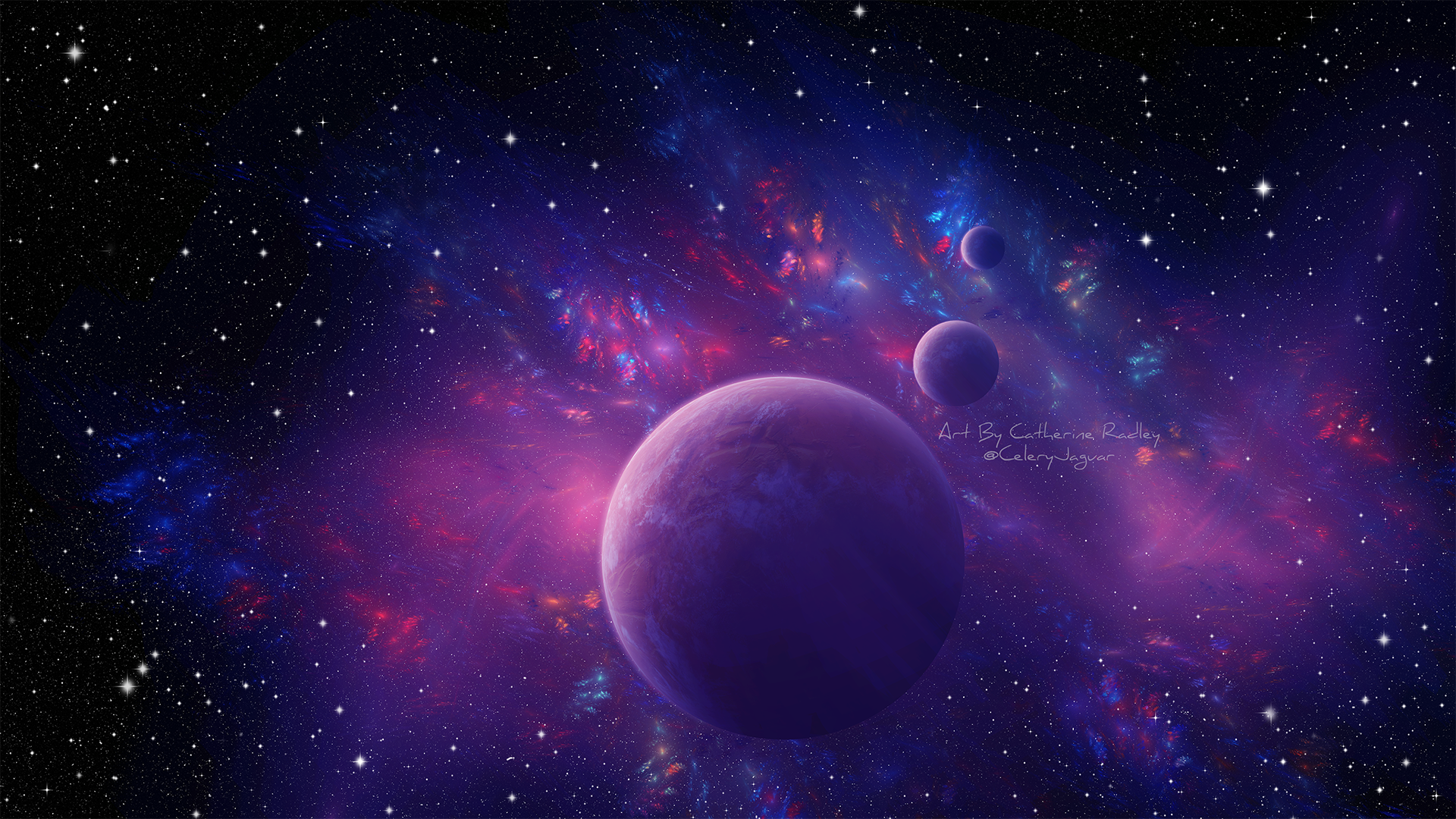 Purple And Blue Space Fondo De Pantalla Hd Fondo De