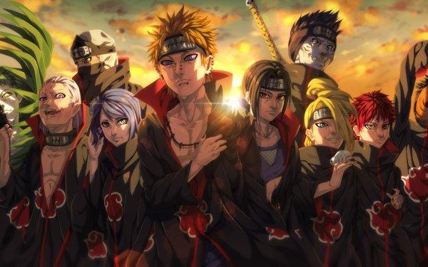 Anime Naruto Hidan Kakuzu Konan Yahiko Pain Itachi Uchiha Deidara Kisame Hoshigaki Obito Uchiha Sasori Zetsu Fondo de pantalla HD | Fondo de Escritorio