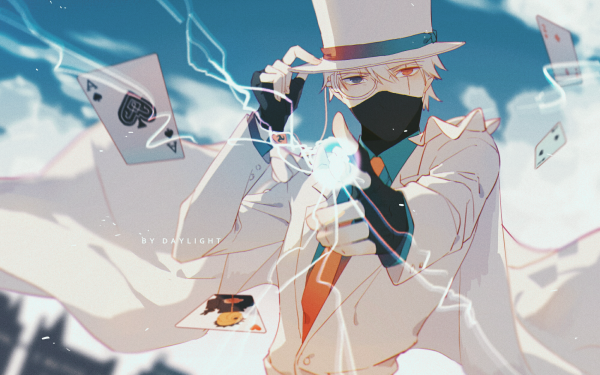 Anime Naruto Kakashi Hatake Obito Uchiha Heterochromia Lightning Card Top Hat HD Wallpaper | Background Image