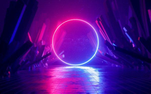 Artistic Neon Cyberpunk HD Wallpaper | Background Image