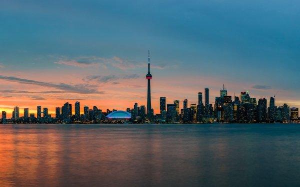 Door de mens gemaakt Toronto Steden Canada Stad Gebouw Wolkenkrabber Lucht HD Wallpaper | Achtergrond