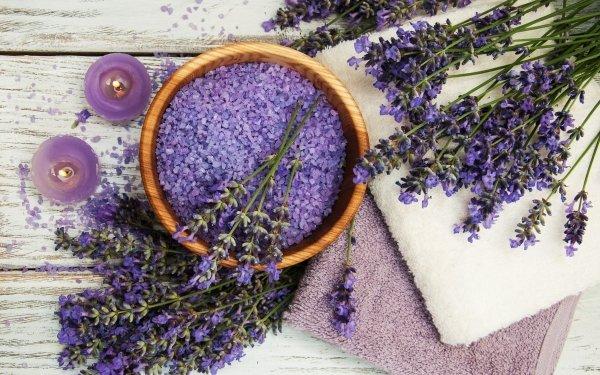Man Made Spa Flower Salt Lavender Purple Flower HD Wallpaper   Background Image