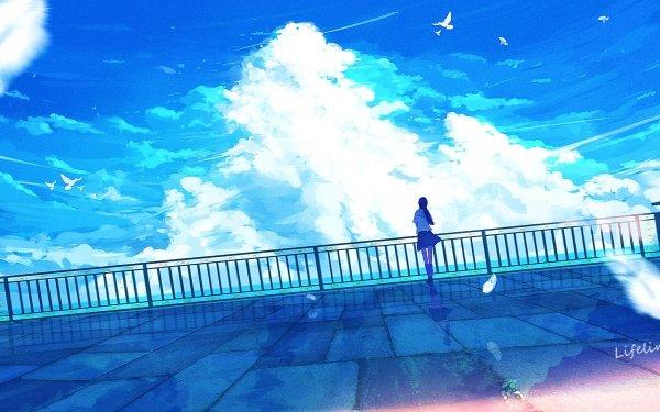 Anime Original Sky Cloud HD Wallpaper | Background Image