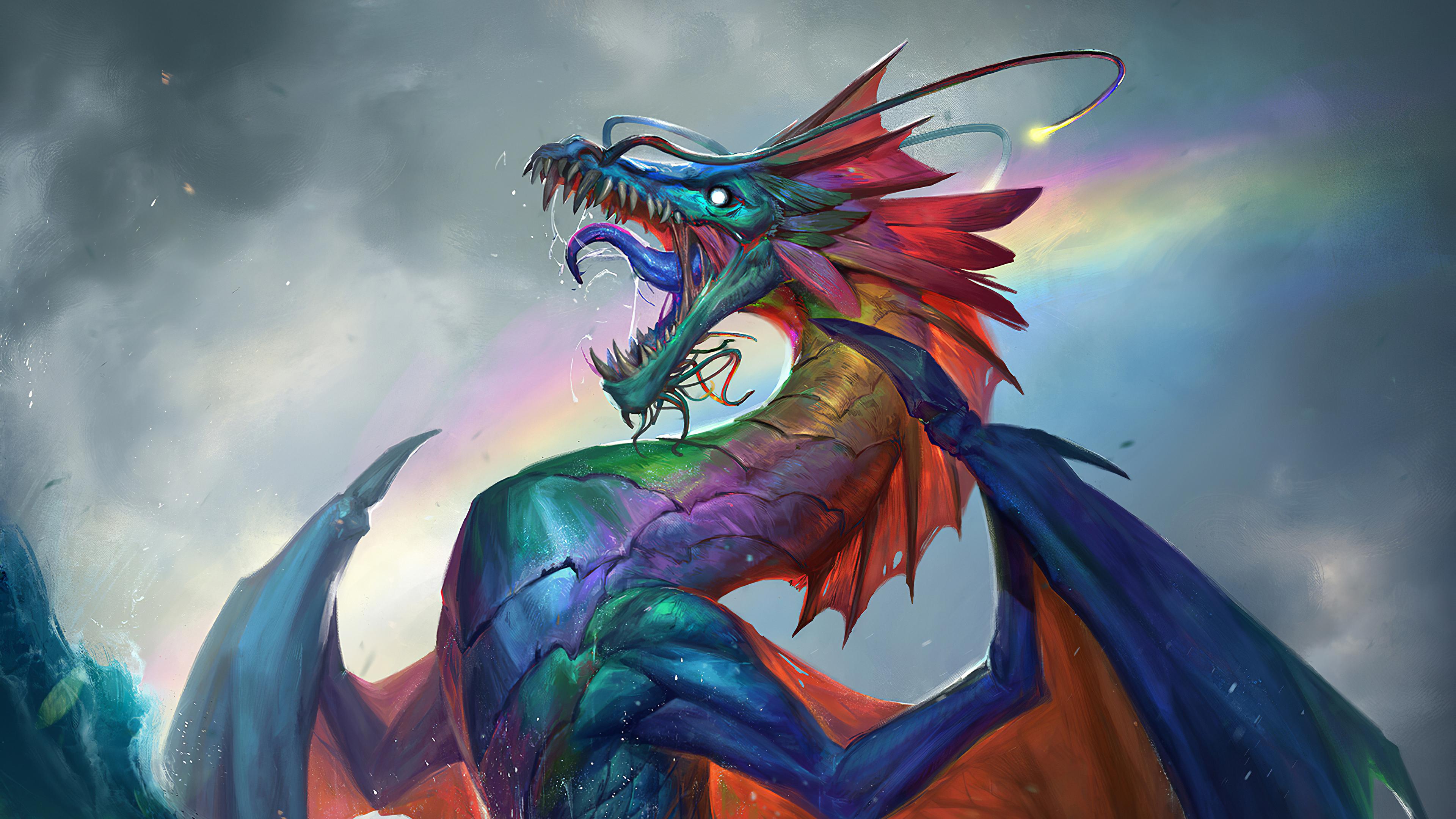 Dragon 4k Ultra HD Wallpaper   Background Image ...