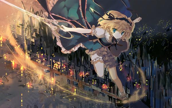Anime Touhou Alice Margatroid Alice In Wonderland HD Wallpaper   Background Image