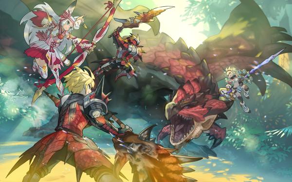 Video Game Dragalia Lost Monster Hunter Euden Sarisse Berserker Vanessa Rathalos HD Wallpaper | Background Image
