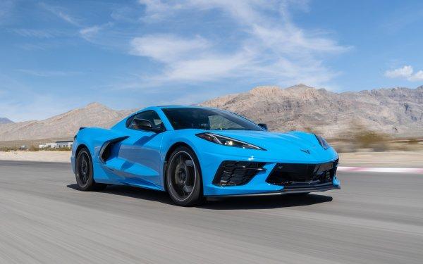 Vehicles Chevrolet Corvette (C8) Chevrolet Corvette Car Chevrolet Corvette Blue Car Sport Car Supercar HD Wallpaper | Background Image