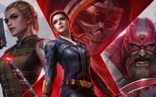 Movie Black Widow Yelena Belova Taskmaster Red Guardian HD Wallpaper | Background Image