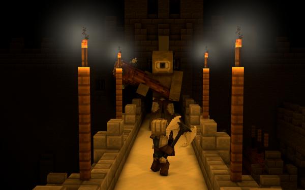 Jeux Vidéo Minecraft Ogre Bataille Chevalier Fond d'écran HD   Image
