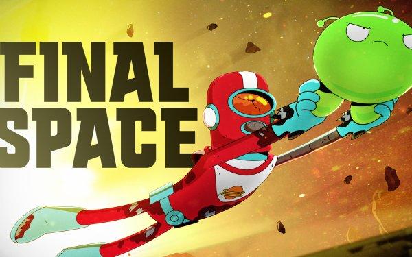 TV Show Final Space Gary Goodspeed Mooncake Logo Flying Alien HD Wallpaper   Background Image