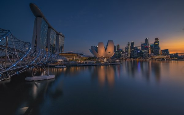 Man Made Marina Bay Sands Buildings Building Singapore Hotel Museum HD Wallpaper | Background Image