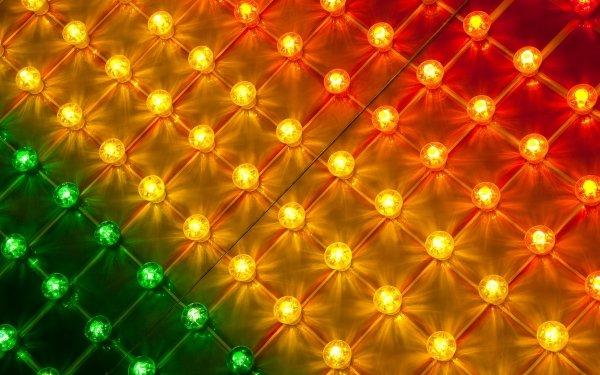 Man Made Light Bulb Light Grid HD Wallpaper | Background Image