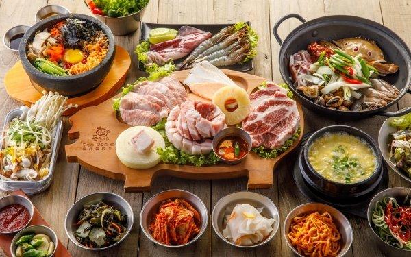 Food Meal Meat Shrimp Seafood Salad Snack HD Wallpaper | Background Image