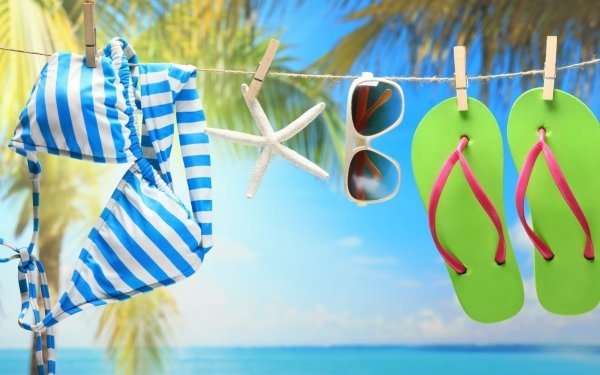 Photography Still Life Summer Bikini Sunglasses Starfish HD Wallpaper   Background Image