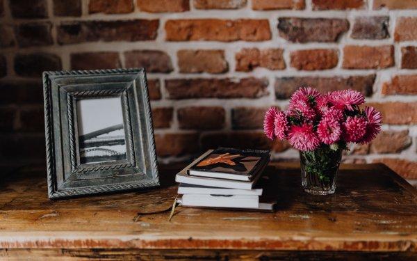 Photography Still Life Flower Frame Book Bouquet Chrysanthemum HD Wallpaper | Background Image