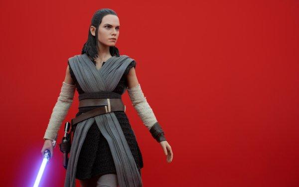 Man Made Toy Star Wars: The Last Jedi Rey Lightsaber Figurine HD Wallpaper | Background Image