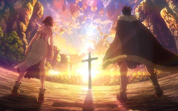 Anime Dr. Stone Taiju Oki Yuzuriha Ogawa HD Wallpaper | Background Image