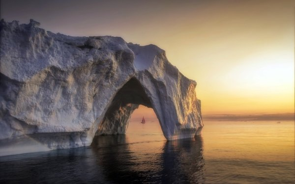 Photography Landscape Ice Arctic Sailing Greenland Iceberg Arch HD Wallpaper | Background Image