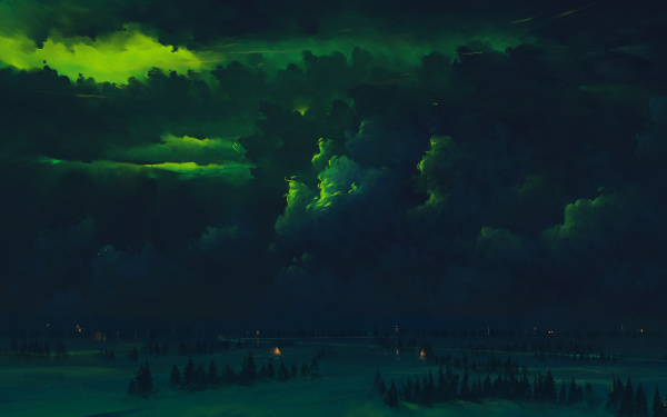 Artistic Night Forest HD Wallpaper   Background Image