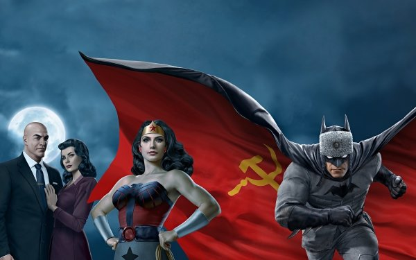 Movie Superman: Red Son Superman Wonder Woman Lois Lane Lex Luthor Batman HD Wallpaper   Background Image